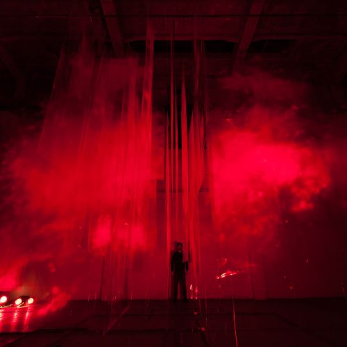 Stratachrome Red by David Spriggs. Installed at Trafacka Gallery, Prague.