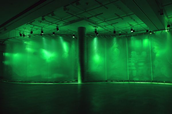 Stratachrome Green by David Spriggs at Galerie de l'UQAM Montreal